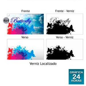 Cartão DuoDesign Verniz Local. e Lam. Fosca