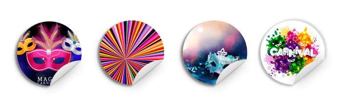 Adesivos personalizados para o Carnaval
